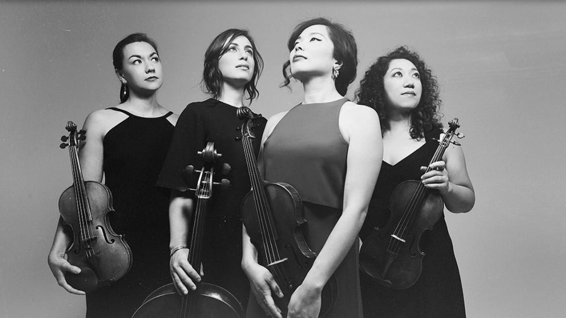 The Aizuri Quartet, from left, Ariana Kim, Karen Ouzounian, Ayane Kozasa and Miho Saegusa.